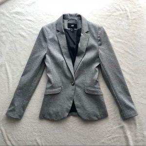 H&M Gray One Button Blazer